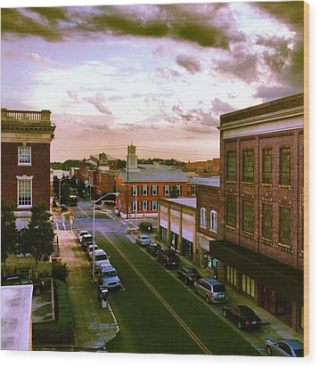 Downtown Washington Nc Wood Print