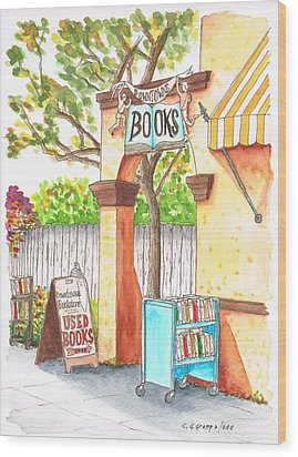 Downtowne Used Books In Riverside, California Wood Print