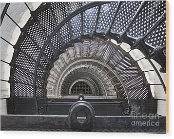 Downward Spiral Wood Print by Douglas Stucky
