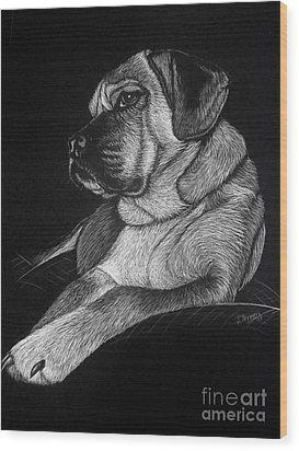 Dozer Wood Print by Jennifer Jeffris