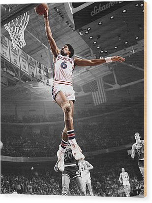 Dr J Wood Print by Brian Reaves