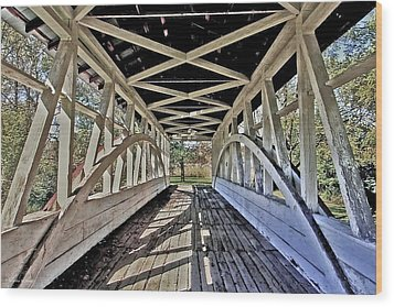 Wood Print featuring the photograph Dr. Knisely Covered Bridge by Suzanne Stout