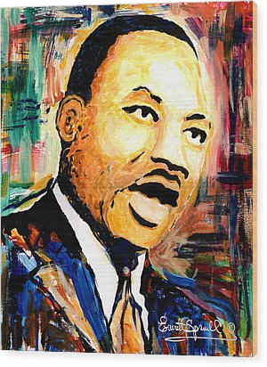 Dr. Martin Luther King Jr Wood Print
