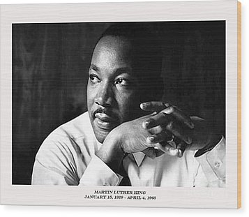 Dr. Martin Luther King Jr. Wood Print by David Bearden