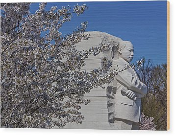 Dr Martin Luther King Jr Memorial Wood Print by Susan Candelario