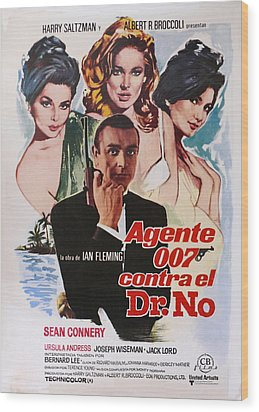 Dr No - Spanish Wood Print by Georgia Fowler