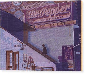Dr Pepper Blues The Way It Was Wood Print by Tony Rubino