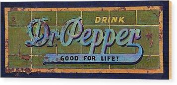 Dr Pepper Wood Print
