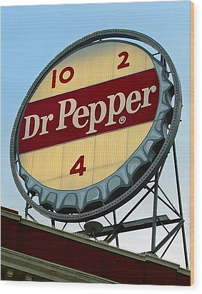 Dr Pepper Wood Print by Kara  Stewart