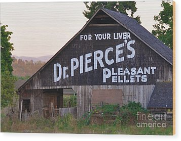 Wood Print featuring the photograph Dr. Pierce's Barn  by Mindy Bench