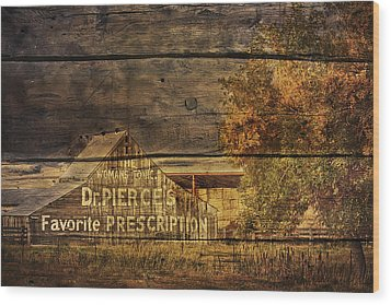 Dr. Pierce's Barn Wood Print by Priscilla Burgers