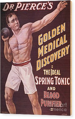 Dr Pierces Spring Tonic And Blood Wood Print by Science Source