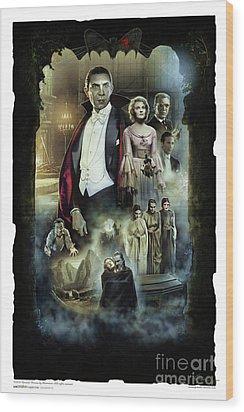 Dracula 1931 Wood Print by Gerardo Moreno