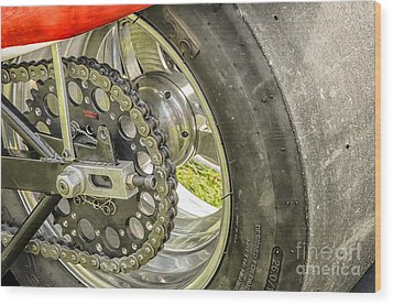Drag Bike Wood Print by JRP Photography