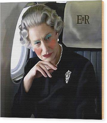 Drag Queen Helen Wood Print by Jann Paxton