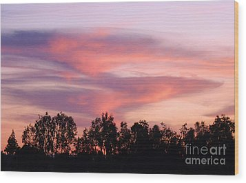 Wood Print featuring the photograph Dragon Clouds by Meghan at FireBonnet Art