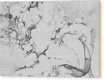 Dragon Dance Wood Print by Claudia Smaletz