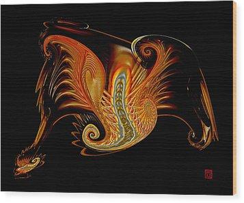 Dragon Wood Print by David Jenkins