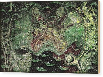 Dragon Dream Wood Print by Kathie Chicoine