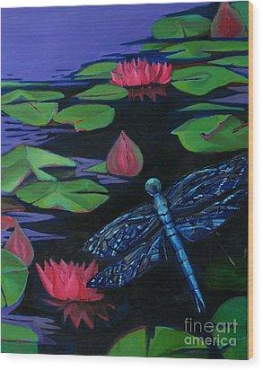 Dragon Fly - Botanical Wood Print by Grace Liberator