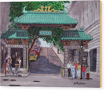 Dragon Gate Wood Print by Mike Robles