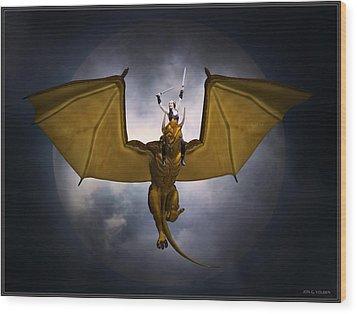 Dragon Rider Wood Print