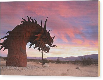 Dragon Scupture 2 Wood Print