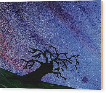 Dragon Tree Wood Print by Winter Frieze