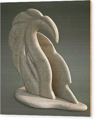 Dragon Wave Wood Print by Lonnie Tapia
