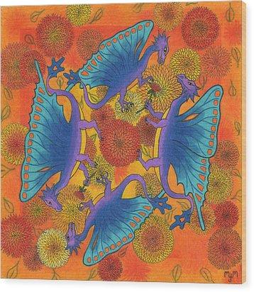 Dragondala Fall Wood Print