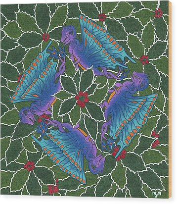 Dragondala Winter Wood Print