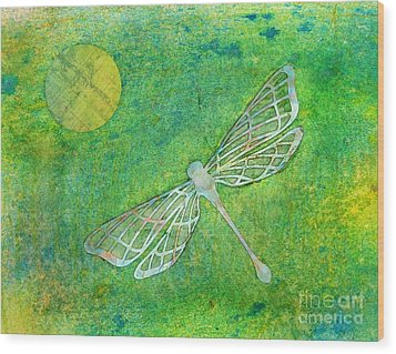 Dragonfly Wood Print by Desiree Paquette
