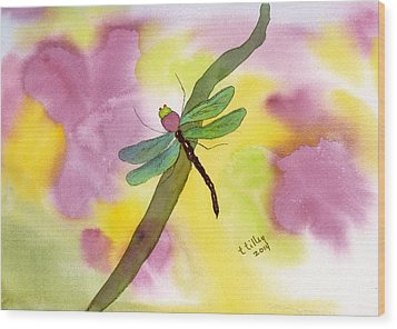 Dragonfly Dream Wood Print by Teresa Tilley