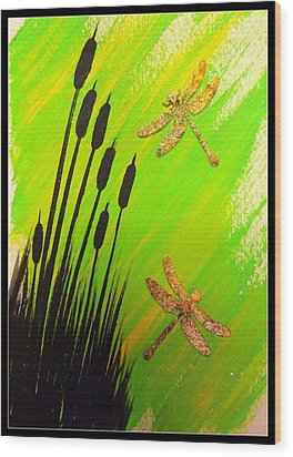 Dragonfly Dreams Wood Print by Darren Robinson