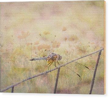 Dragonfly Dreams Wood Print by Judy Hall-Folde