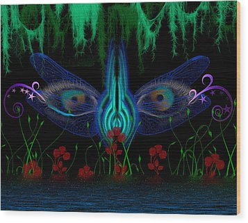 Dragonfly Eyes Series 6 Final Wood Print