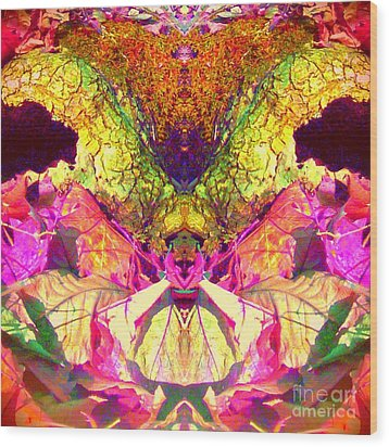 Wood Print featuring the photograph Dragonfly Goddess  by Karen Newell