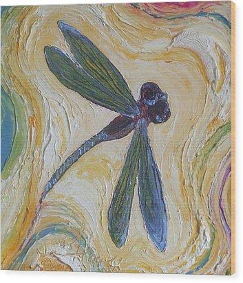 Dragonfly II Wood Print by Paris Wyatt Llanso