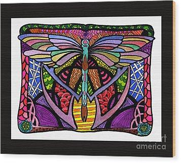 Dragonfly Wood Print by Lamarr Kramer
