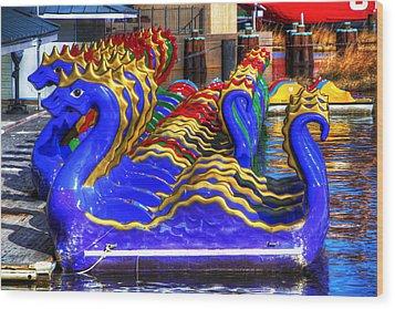 Dragons Wood Print by David Simons