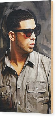 Drake Artwork 2 Wood Print by Sheraz A