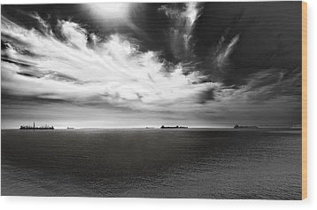Wood Print featuring the photograph Drama Clouds by Joseph Hollingsworth