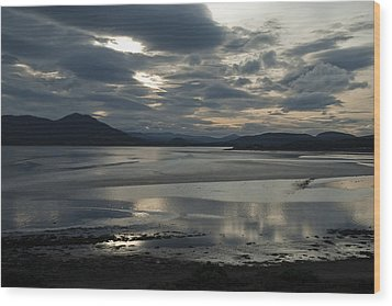 Wood Print featuring the photograph Drama Dornoch Firth by Sally Ross