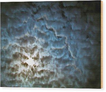 Drama In The Sky Wood Print by Eva Kondzialkiewicz