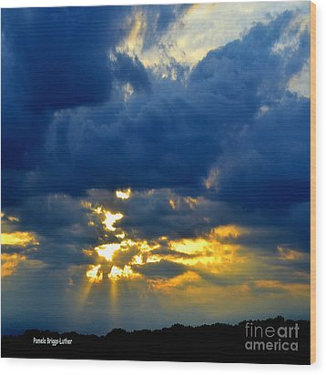 Dramatic Clouds Wood Print by Luther Fine Art