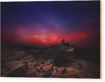 Wood Print featuring the photograph Dramatic Dawn by Afrison Ma