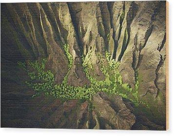 Dramatic Kokee Aerial Wood Print by Kicka Witte