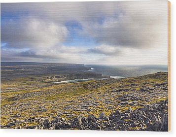 Dramatic Landscape Of The Aran Islands Wood Print by Mark Tisdale