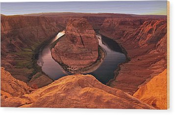 Wood Print featuring the photograph Dramatic River Bend by David Andersen