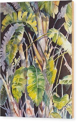 Dramatic Tropics Wood Print by Roxanne Tobaison